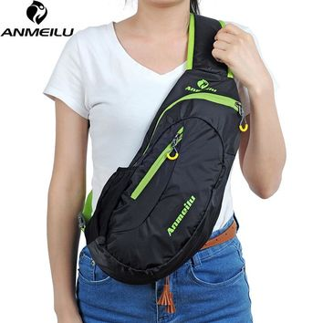 8L Waterproof Nylon Small Sports Chest Bag,Women Men's One Single Shoulder Crossbody Outdoor Bag Backpack 4 colors