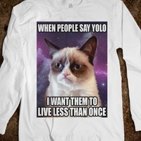 Grumpy Cat (Yolo Long Sleeve) - The Pyramids