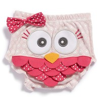 Infant Girl's Baby Aspen 'Whoo's the Cutest?' Owl Bloomers, Size 0-6M - Pink