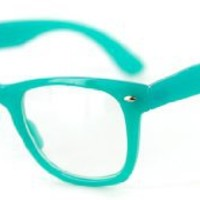 """Taxicab"" Clear Wayfarer Glasses with Neon Colors - Just-for-Fun Style for Men and Women"