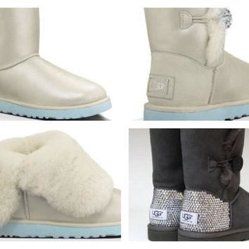 Custom UGG Boots made with Swarovski Bailey I Do Free: Shipping, Repair Kit, Cleaning