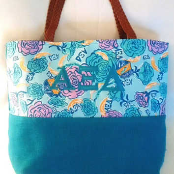 Lilly Pulitizer Print Sorority Bag - Alpha Xi Delta