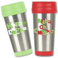 Sorority Stainless Steel Travel Mug - Sale | Sorority gifts and accessories from SomethingGreek.com