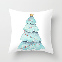 christmas tree Throw Pillow by Sylvia Cook Photography