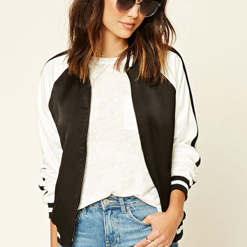 Contemporary Satin Bomber