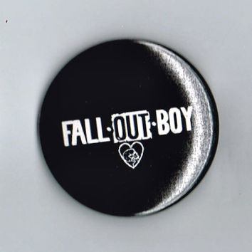 Fall Out Boy Band Name Logo One and a Half Inch Pin Back Pinback Button Badge 1.5""
