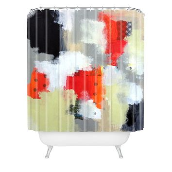 Natalie Baca Polka Dot Paradise Shower Curtain
