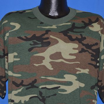 80s Woodland Camouflage Deadstock t-shirt Extra Large