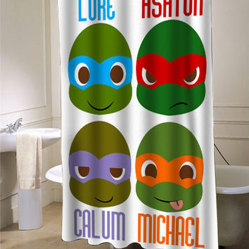 5 second of summer NINJA custom shower curtain for bathroom ideas
