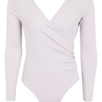 PETITE Long Sleeve Ruche Body - Petite - Clothing