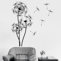 Vinyl Wall Decal Dandelion Flower Floral Room Decoration Stickers Mural Unique Gift (ig3356)