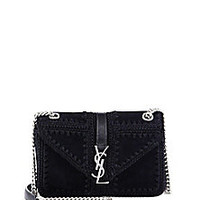 Saint Laurent - Saint Laurent Monogram Medium Slouchy Crochet & Suede Chain Bag - Saks Fifth Avenue Mobile