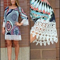 Pink Coconut Boutique | Looking through a Prism with Crochet Tunic/Dress