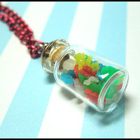 Mini Gummi Bear Jar Necklace