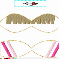 DIGITAL FILE Neverland Indian Princess inspired 3D felt bow felt clippie ITH Embroidery design