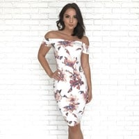 Love to be Loved Floral Dress in Ivory