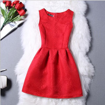 Hot Sale Skinny Princess Sleeveless One Piece Dress = 4806597252