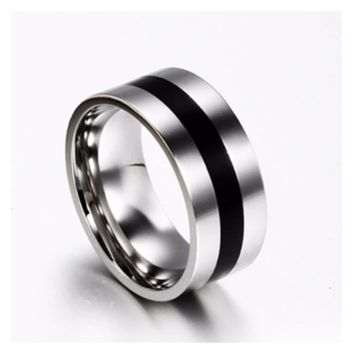 Women Simple Wedding Engagement Stainless Steel Ring (6,8)