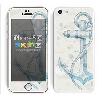 Hand Drawn Anchor on Grunge Paper Skin For The iPhone 5c