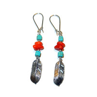 Bohemian Feather Dangle Earrings