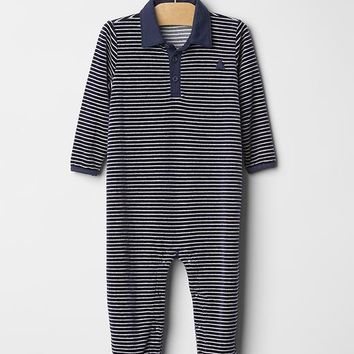 Gap Baby Velour Footed Bear One Piece