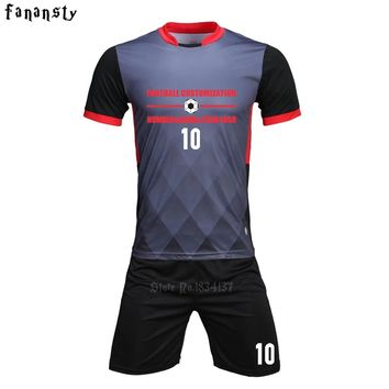 Top quality soccer jerseys 2017 2018 men customized football jerseys adult football uniforms sets suits kit maillots de football