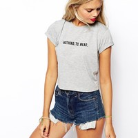 ASOS Crop Top with Nothing to Wear