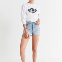 Levi's Frayed Denim Wedgie Short – Collateral | Urban Outfitters