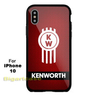 New Hot Kenworth Truck Logo Red Print On Hard Plastic Case Cover for iPhone X