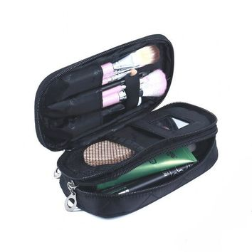 DKF4S Women Travel Nesesser Toiletry Bag Purse Small Makeup Bag Lady Storage Brush Organizer Make Up Case Beauty Clutch Cosmetic Bags