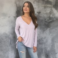 Dusk to Dawn Tunic Top In Lilac