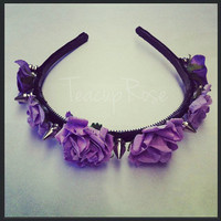 Lilac Rose Spike Headband