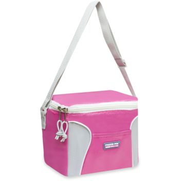 Schools In Awesome Fun Pink and White Lunch Bag