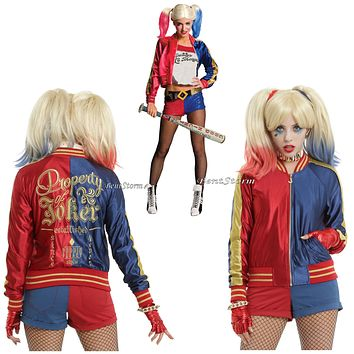 Licensed cool DC  Suicide Squad Harley Quinn Puddin Bomber Jacket Hot Topic EXCLUSIVE