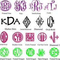 Custom Vinyl Monogram - Iron on Monogram - Custom Monogram - Custom Monogram Decal - Monogram Sticker - Monogram Iron on  - Gift - Car Decal