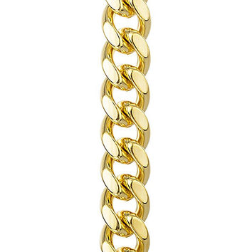 Goldtone Brass 13mm Miami Cuban Chain with Box Lock - 9 30 36 Available (9 Bracelet)