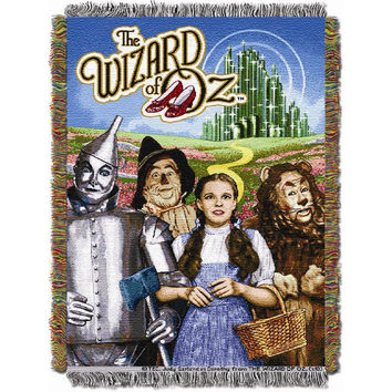 Wizard of Oz Group Triple Woven Jacquard Throw (48x60)