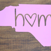 North Carolina Home Vinyl Sticker Decal ~ NC