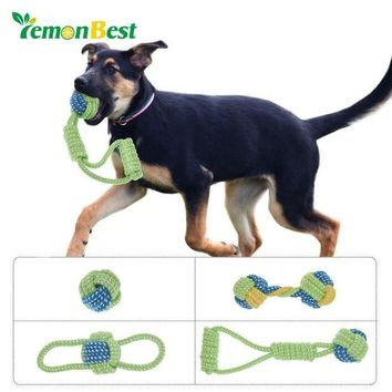 DCCKU7Q LemonBest Cotton Dog Rope Toy Knot Puppy Chew Teething Toys Teeth Cleaning Pet Palying Ball For Small Medium Large Dogs