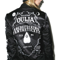 Kill Star Ouija Varsity Jacket Black