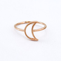Hollow Moon Ring