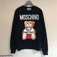 MOSCHINO Fashion Casual Long Sleeve Sweater Pullover Sweatshirt G