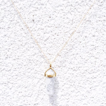White Marble crystal on Gold