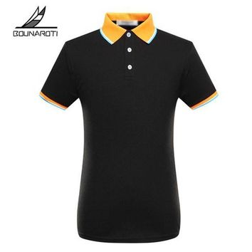 ESBON 2018 Top Solid Regular Cotton Polo Brand Clothing New Men Polo Shirt Business & Male Short Sleeve Breathable S-3xl