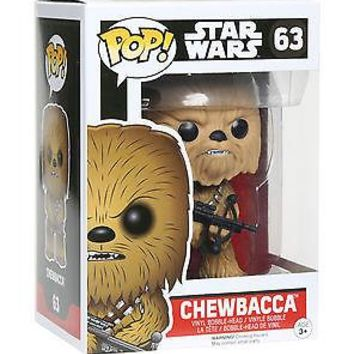 Licensed cool CHEWBACCA WOOKIE #63 Funko Pop! Star Wars 7 The Force Awakens Vinyl Bobble Head