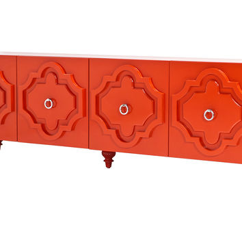 "Marrakesh 84"" Credenza, Tangerine, Buffets & Sideboards"