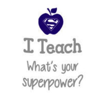 Teacher Superpower Personalized Cermaic Coffee Mug - Travel Coffee Mug - Teacher Gift - Personalized Teacher Coffee Cup