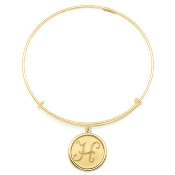 Alex and Ani Precious Initial H Charm Bangle - 14kt Gold Filled