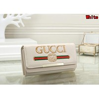 Gucci Newest Fashionable Women Leather Purse Wallet White