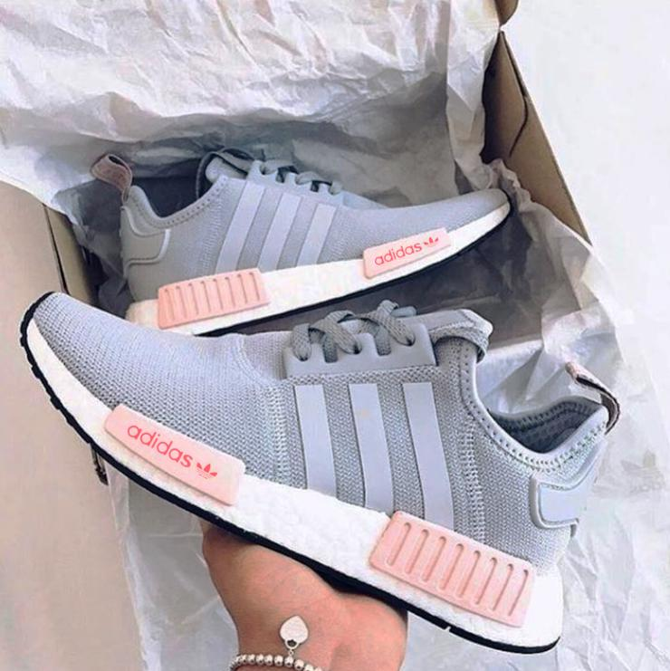 b09d9f23daa9 ADIDAS Women Running Sport Casual Shoes NMD Sneakers GREY